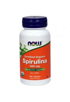 NOW SPIRULINA 500 мг 100 таб